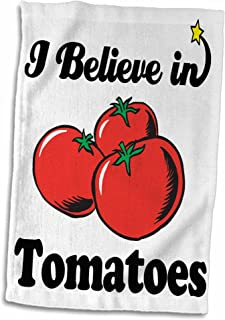 3dRose I Believe In Tomatoes - Towel, 38cm by 60cm