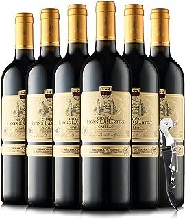 法国原瓶进口红酒 拉玛特雄狮堡 城堡级干红葡萄酒750ml*6