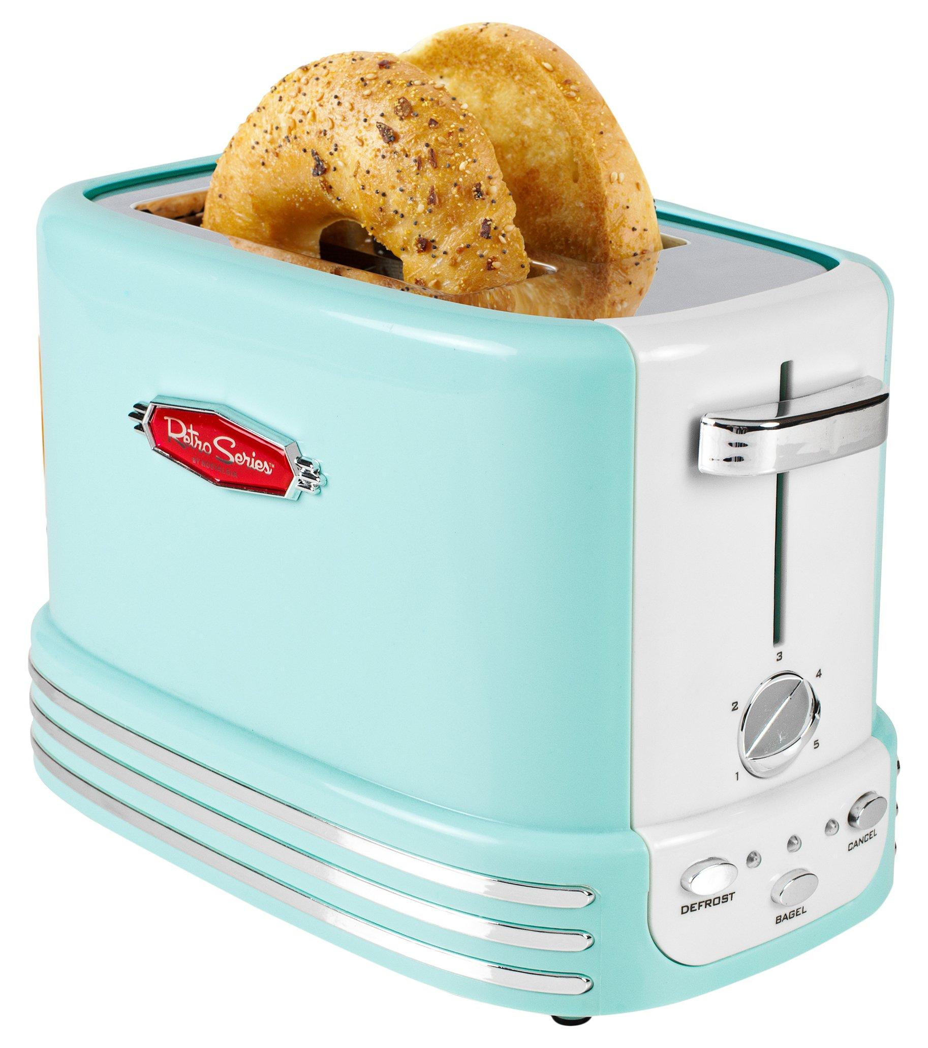 Nostalgia RTOS200AQ Bagel Toaster 2 Slice