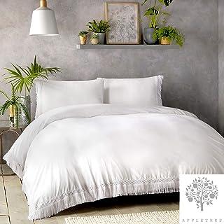 Appletree Signature - Tasha - 100% Cotton Duvet Cover Set - Single Bed Size in White