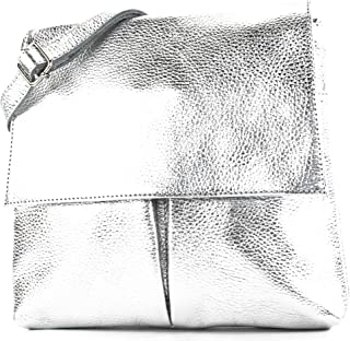 modamoda de - T63LEDER - Damen Umhängetasche aus Leder