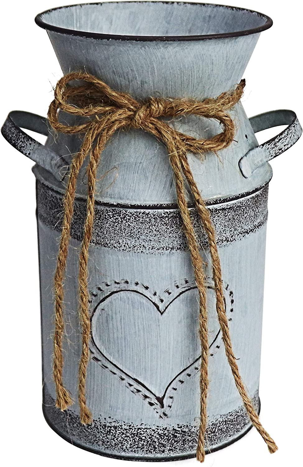 MISIXILE Rustic Metal Flower Vase gift Chic Farmhouse Shabby Vintage Outlet SALE