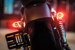 Kuryakyn 2554 Motorcycle Lighting Accessory: Kellermann Bullet 1000 DF, Rear LED Running/Turn Signal/Blinker/Brake Light, Red/Red/Amber, Chrome, Pack of 1