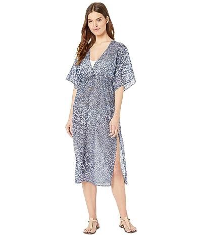 Tory Burch Swimwear Printed Beach Dress Cover-Up (Blue Keepsake) Women