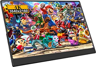 """$249 Get Eviciv 4k Game Monitor 12.5"""" Portable Gaming Monitor IPS Screen Display 3840x2160 Resolution HD Computer Monitor Built-in Speakers with USB DC DP Input Fit for HDMI Win MAC"""