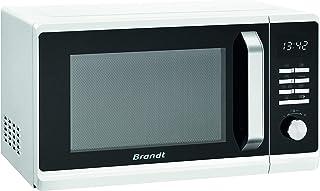 Brandt SE2302W - Micro-ondes - Autoprogramme - Cavité Inox - Mode Décongélation - 23 L - 800 W - Blanc et Noir
