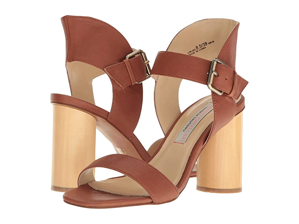 Kristin Cavallari Locator Leather Heeled Sandal (Whiskey) Women