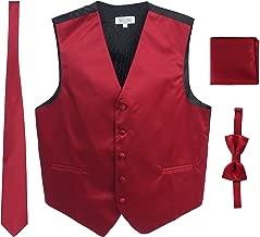 fuschia vest and tie