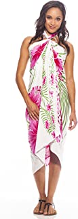 1 World Sarongs Womens Hawaiian Swimsuit Cover-Up Sarong in Your Choice of Color