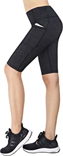 Zinmore Women's Running Cycling Shorts Exercise Workout Yoga Shorts Half Pants with Pockets