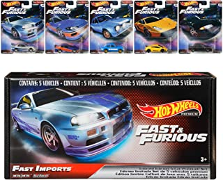 Hot Wheels Fast & Furious Bundle, 5 Premium Vehicles from...