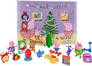 Peppa Pig Advent Calendar, 24-Piece, Featuring Fun Characters / Accessories from The World of Peppa Pig Including George, ...