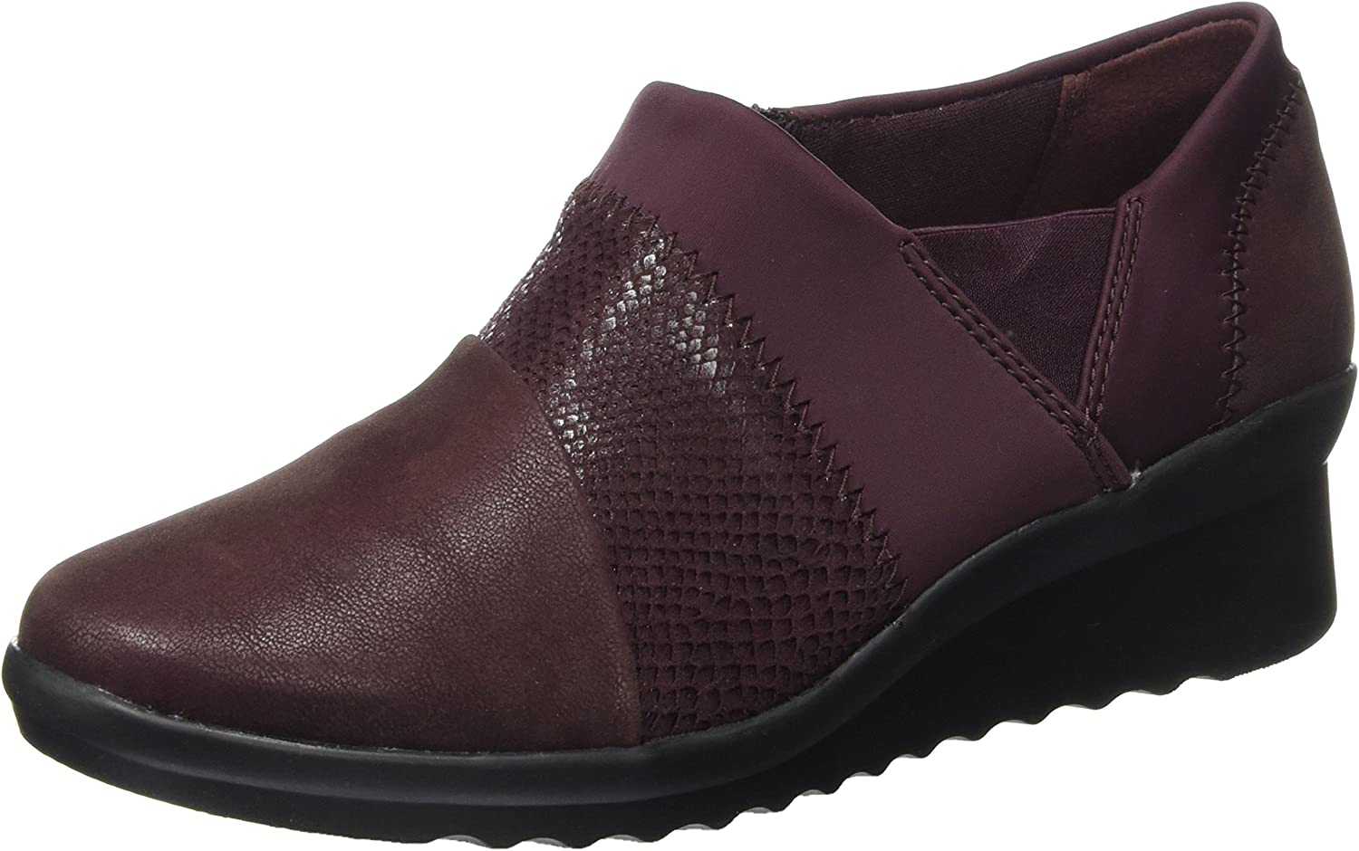 Clarks Womens shoes Caddell Denali Burgundy