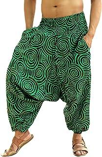 Sarjana Handicrafts Men Women Cotton Harem Pants Pockets Yoga Trousers Hippie