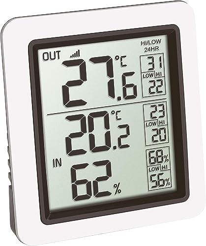 TFA Dostmann INFO 30.3065.02 Thermomètre sans fil avec émetteur extérieur Blanc 85 x 55 x 125 mm