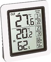 TFA Dostmann INFO draadloze thermometer incl. externe zender kat-nr. 30.3065.02, wit, L85 x B55 x H125 mm