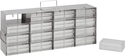 Heathrow Scientific HD28624 - Estantería para lector de placas o congelador PCR (4 x 4, acero inoxidable, 543 x 112 x 230 mm)
