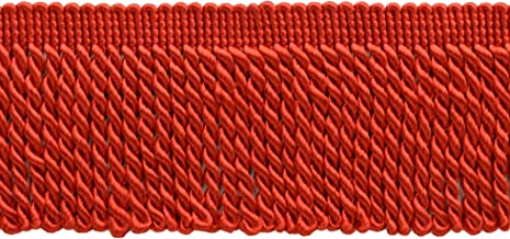 10 Yard Value Pack|2.5 Inch Bullion Fringe Trim|Style# EF25 Color: 88 - Bright Red|9.5 Meters / 30 Ft