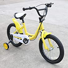 Bicicleta infantil de 16 pulgadas, unisex, 9,5 kg, con rueda auxiliar