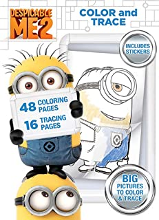 Bendon Despicable Me 2 48-Page Color and Trace Activity Book with Stickers