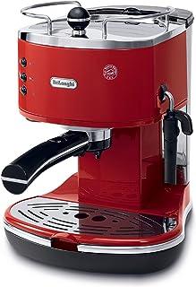 DeLonghi ECO-301.R Cafetera Tipo Barista Acero, color Rojo