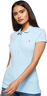 Tommy Hilfiger Women's SHORT SLEEVE SLIM Polo Shirt (pack of 1)