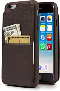 Vaultskin Eton Armour iPhone case with Leather Wallet (Brown, iPhone 6 Plus)