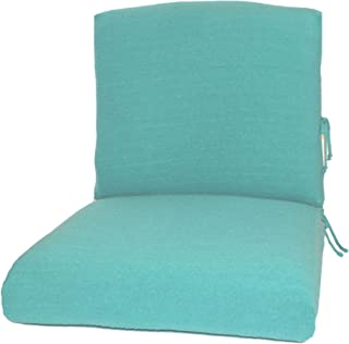 CushyChic Outdoors Terry Slipcovers for Deep Seat Patio Cushions, 2 Piece in Aruba - Slipcovers Only - Cushion Inserts NOT Included