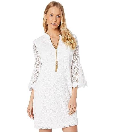 Lilly Pulitzer Zelle Dress (Resort White Zanzibar Lace) Women