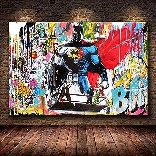 Abstract Graffiti Street Art Canvas Print Poster,Superhero Modern Family Bedroom Decor Posters,Artwork Printed Poster Canv...