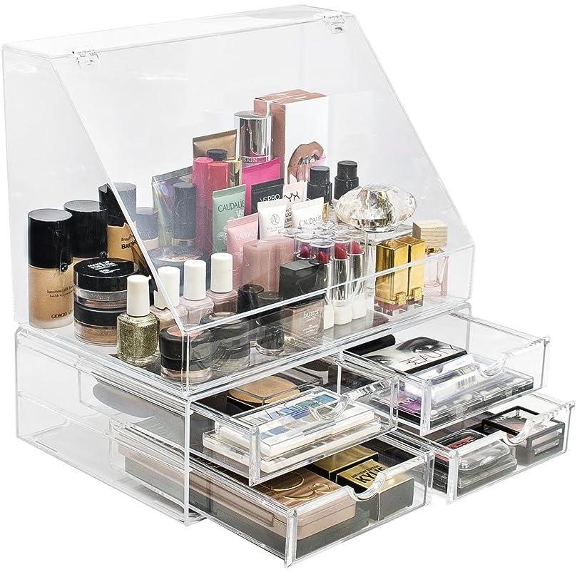 帳面降下コピーSorbusアクリル化粧品メイクアップオーガナイザーストレージケース表示with Slanted Open lid-cosmeticメイクアップのストレージ、ブラシ、香水、Skincare MUP-LSETSTND-4A