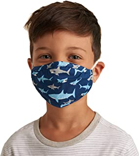 Little Blue House By Hatley Face Mask with Ear Elastic Sciarpa alla moda, Shark Frenzy, Taglia Unica Unisex-Bambini