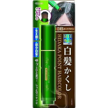 TO-PLAN(トプラン) 日高昆布部分白髪かくし ダークブラウン 筆ペンタイプ