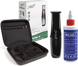 Wahl Professional Sterling 5 Trimmer #8777 with Travel Storage Case #90728 and 4oz Clipper Oil #03310 Great for Barbers and Stylists