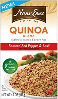 Near East Roasted Red Pepper and Basil Quinoa, 4.9-Ounce (Pack of 6)