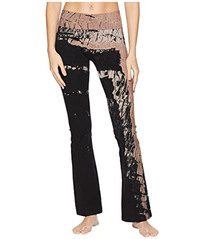 Hard Tail Rolldown Bootleg Flare Pants (Diagonal Butterfly 1) Women