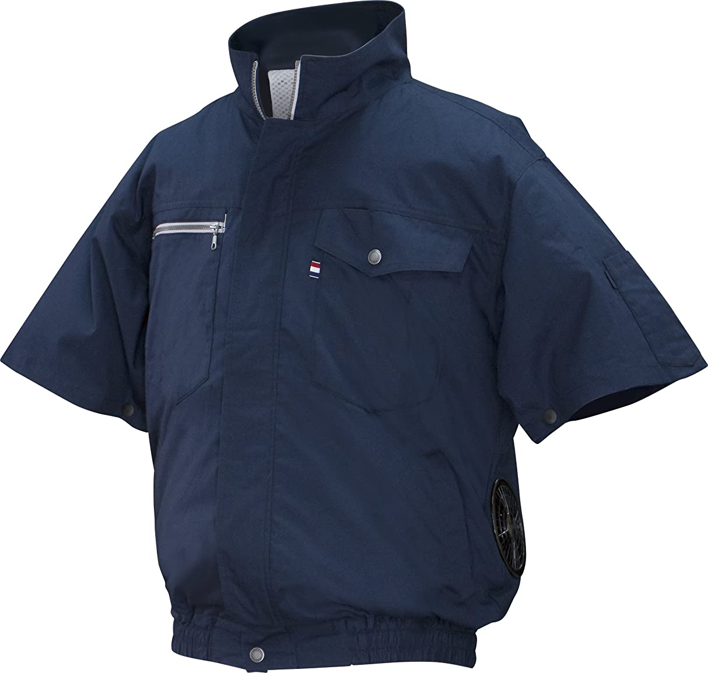 囲む食器棚ジャンクNSP 空調服 服単体 半袖 立ち襟 綿タイプ ネイビー サイズ3L 8209117