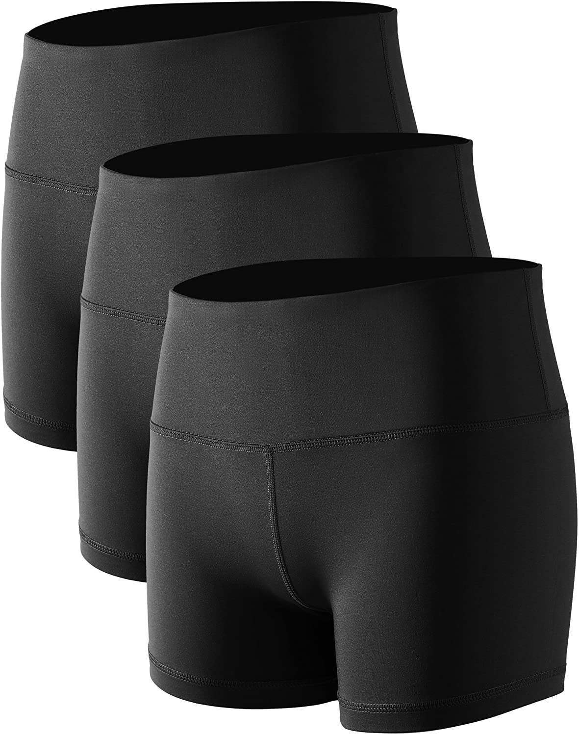 """CADMUS Women's 5"""" /2"""" High Waist Stretch Athletic Workout Shorts with Pocket : Sports & Outdoors"""