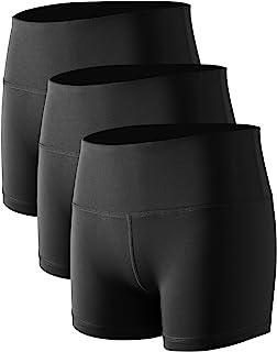 Cadmus Women's High Waist Stretch Athletic Workout Shorts Pocket