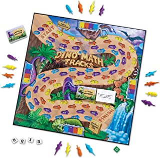 Learning Resources LER0712 Dino Math Tracks Game