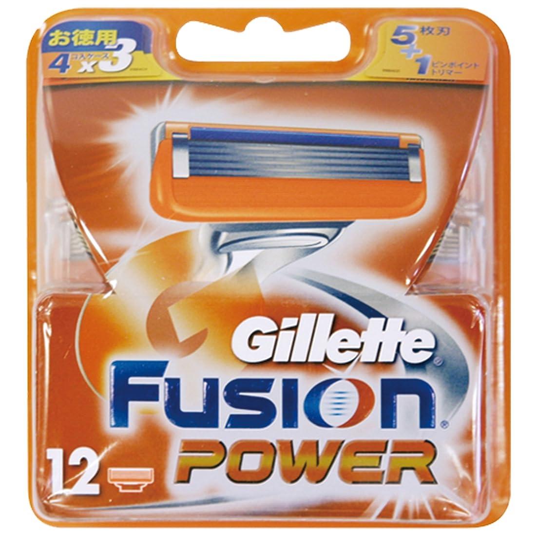 打ち上げる有害気質ジレット 髭剃り フュージョン 5+1 パワー 替刃12個入