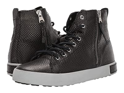 Blackstone High Top Zip Boot KL62 (Black Metallic) Women