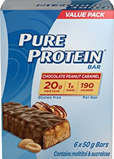 Pure Protein Choc Penut C Size 10.56 Pure Protein Choclate Peanut Carmel 50g Value Pack 10.56z