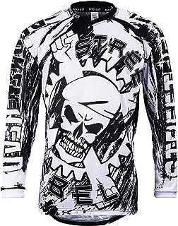 Broken Head MX Jersey Street Rebel Weiß-Schwarz - Langarm Funktions-Shirt Für Moto-Cross, Mountain Bike, Offroad - XL