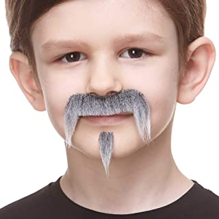 Mustaches Fake Mustache, Self Adhesive, Novelty, Small Zappa False Facial Hair, Costume Accessory for Kids