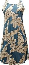 product image for Paradise Found Womens Hibiscus Pareau Short Tank Dress Blue XXL