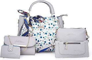 Shining star Women GREY Hand-held Bag (Pack of: 5)