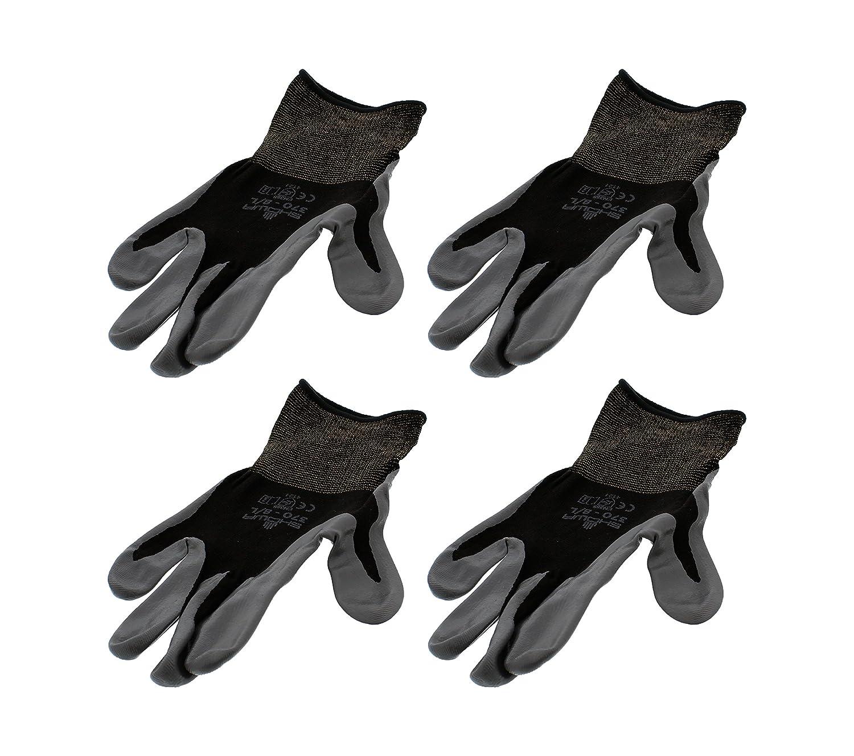 4 Pack Showa Atlas 370BBK - Tough Weekly update Large Gloves Nitrile 5 ☆ very popular