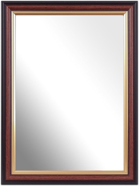 Inov8 British Made A4 Traditional Mirror, Mahogany