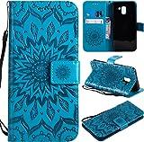 f�r Galaxy J6 (2018) H�lle,Gepr�gte Muster Handy h�lle/Tasche / Cover/Case f�r das Samsung Galaxy J6 (2018) PU Leder Flip Cover Leder H�lle Standfunktion Kredit Kartenf�cher (S) (4)